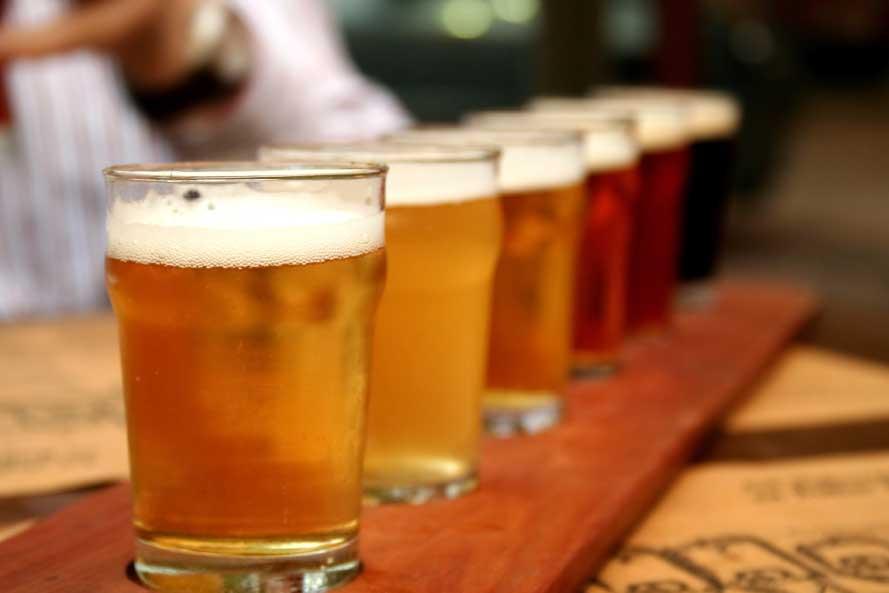 variety of craft beer
